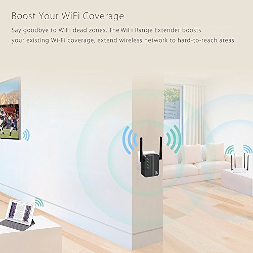 WiFi Range Extender, FiveHome 300Mbps High Speed WiFi Booster with Repeater/Access Point/Router Mode -360 Degree WiFi Signal - Easily Set Up by FiveHome (Image #4)