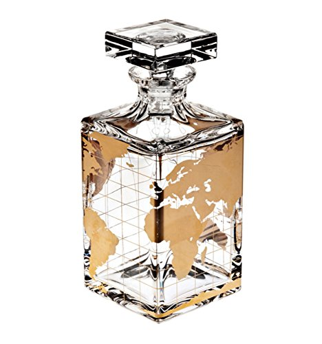 Vista Alegre Whisky Liquor Decanter Atlas Gold by Vista Alegre