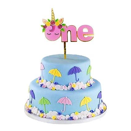 Amazon Sakolla Unicorn One Cake Topper Upgraded New Design 1st