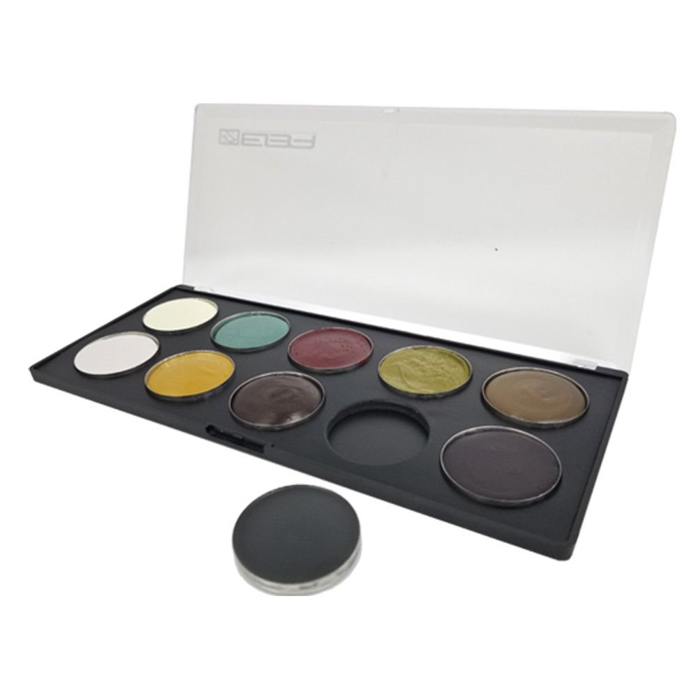European Body Art EVO Quick Drying Cream SFX Professional Makeup Palette, Undead