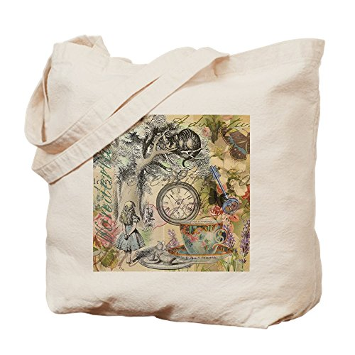 CafePress Cheshire Cat Alice In Wonderland Natural Canvas Tote Bag, Cloth Shopping Bag