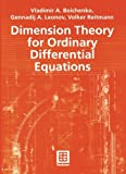 Dimension Theory for Ordinary Differential Equations, Boichenko, Vladimir A. and Leonov, Genadij A., 3519004372