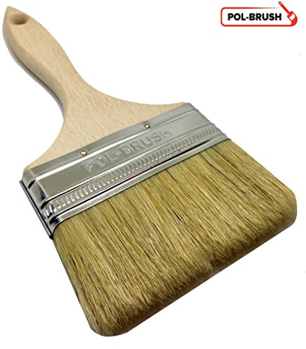 4'' Paint Brush - Natural Bristle\Wood Handle; For Professional & Amateur Paint Job, Oil Stain, Wax, Varnish, Glue and etc.
