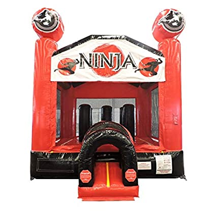 Amazon.com: Ninja Red and Black Bounce House with Tunnel ...