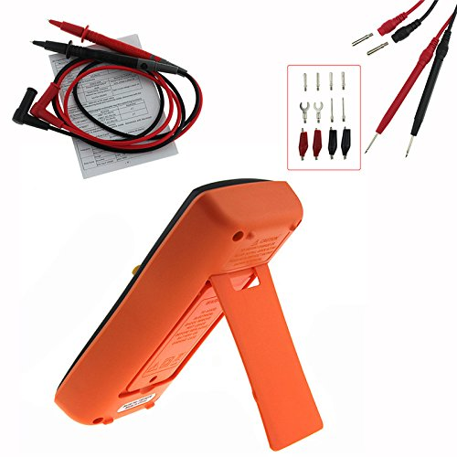 courant continu r/ésistance g/énie /électrique rouge transistor pour lautomobile 4EVERHOPE AN8009 Plage automatique Portatif Num/érique Multim/ètre Test tension AC // DC diodes continuit/é