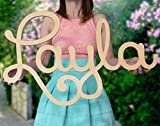 Custom Personalized Wooden Name Sign 12-55' WIDE- LAYLA Font Letters Baby Name Plaque PAINTED nursery name nursery decor wooden wall art, above a crib