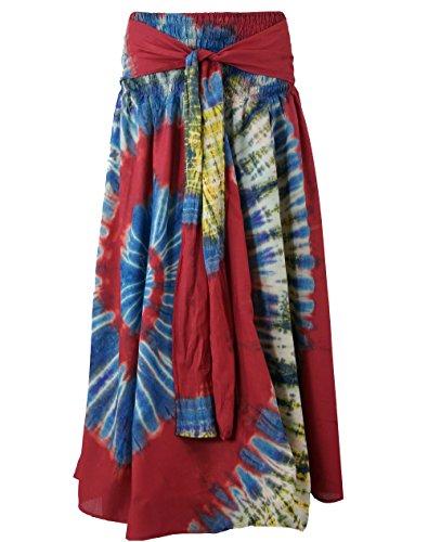 Guru-Shop - Vestido - para mujer Rojo