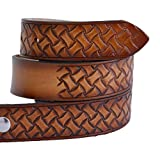 High Springs Leather Children's Name Belt Weave Design Personalized (28 (10 to 12 Reg))
