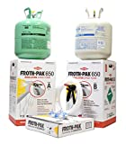 Dow Froth Pak 650, Spray Foam Insulation Kit, Class A fire rated 650 sq ft, 30 ft Hose