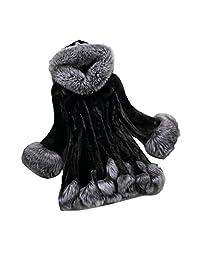Franterd Women Thick Hooded Coat - Winter Warm Faux Fur Parka Outwear S-6XL