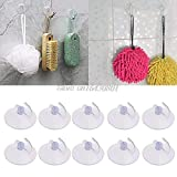 NIDIBI 10PCS Glass Window Wall Strong Suction Cup Hooks Hanger Kitchen Bathroom S08 Drop ship NEW