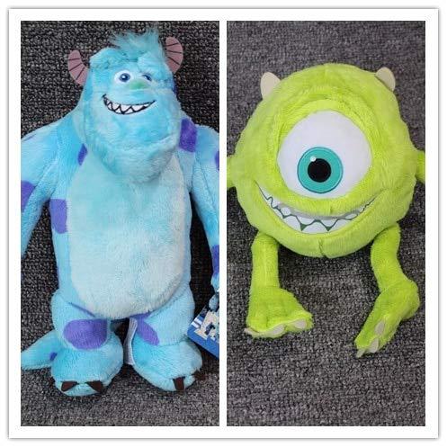 AquaMesto Movies & TV - 1pair Monsters University Monster 25cm Mike Wazowski and 28cm James P. Sullivan Plush Toys for Kids Birthday Gift Stuffed Doll 1 PCs from AquaMesto