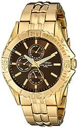 Armitron Men's 20/5071BNGP Multi-Function Dial Gold-Tone Bracelet Watch