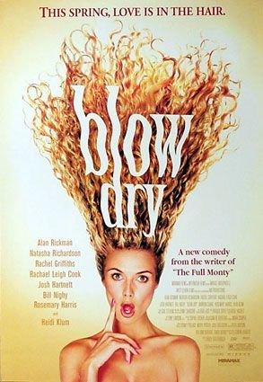 Blow Dry 2001 Original Movie Poster - Single Sided - Alan Rickman - Josh