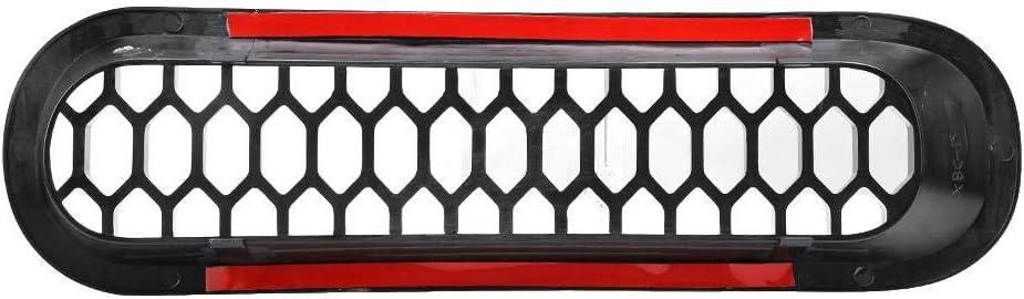 Qii lu Griglia griglia paraurti anteriore nera con foro per serratura adatta per Wrangler JK 2007-2017