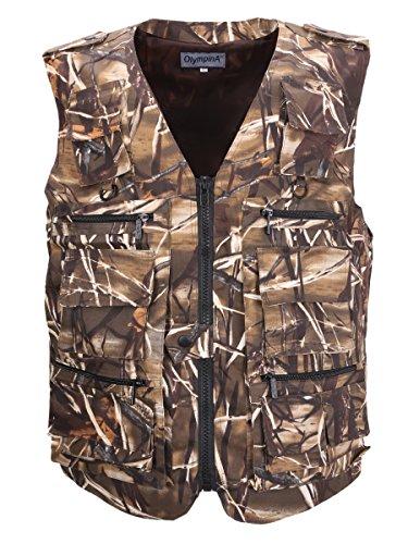 LUSI MADAM Men's Multi-Pockets Travel Hunting Fishing Vest US L/Asia 3XL Reed