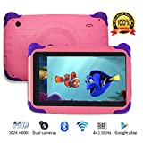 Contixo Kids Tablet K4 | 7' Display Android 6.0 Bluetooth WiFi Camera Parental Control for Children Infant Toddlers (Pink)
