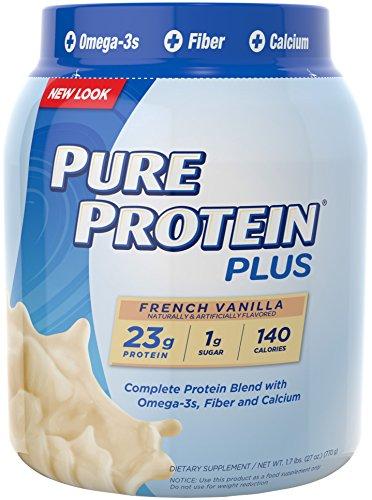 Pure Protein Plus Nutrition Powder,  French Vanilla, 1.7 Pound