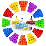 Self-Sealing Water Balloons Instant Balloons Easy Quick Fill Balloons with in 60 Second Splash Fun Rapid-Filling for Kids and Adults Party (Multicolored 12s)