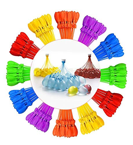 Tiny Balier Water Balloons 12 Pack 440 Balloons Easy Quick Fill for Splash Fun Kids and Adults Party Pool with in 60 Seconds k2]()