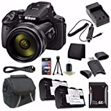 Cheap 6Ave Nikon COOLPIX P900 16MP Digital Camera (International Model No Warranty) + EN-EL23 Battery + External Charger + 32GB SDHC Card + Case + Mini HDMI Cable + Card Reader + Card Wallet Saver Bundle