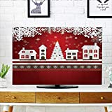 Front Flip Top Winter Holis Themed Gingerbread Houses Xmas Tree Lights and Snowflakes Front Flip Top W30 x H50 INCH/TV 52''