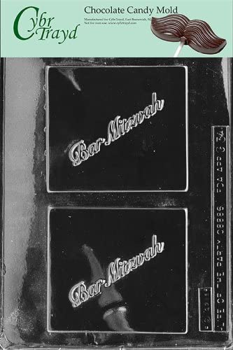 Cybrtrayd Life of the Party G034 Bar Mitzva Jewish Greeting Card Chocolate Candy Mold in Sealed Protective Poly Bag Imprinted with Copyrighted Cybrtrayd Molding Instructions
