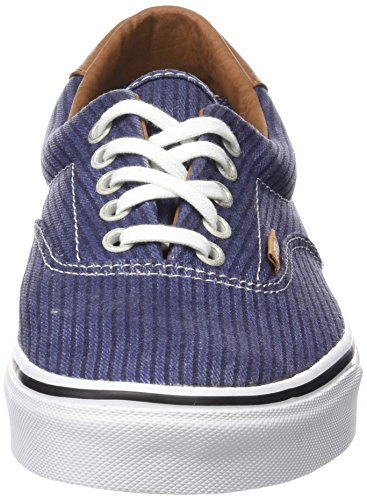 Navy Mixte Washed Adulte Authentic Bleu Herringbone Vans Sneakers OqZC60nxwS