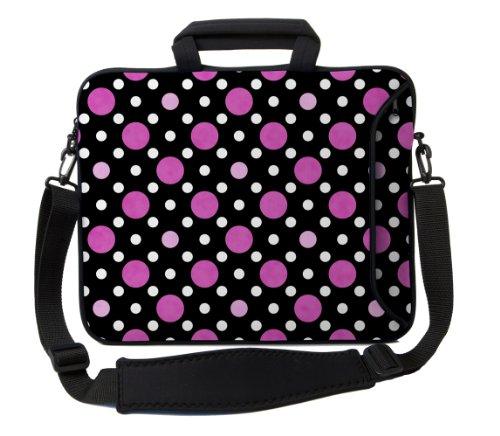 designer-sleeves-17-inch-polka-dots-executive-laptop-case-black-pink-white-17es-pdbpw