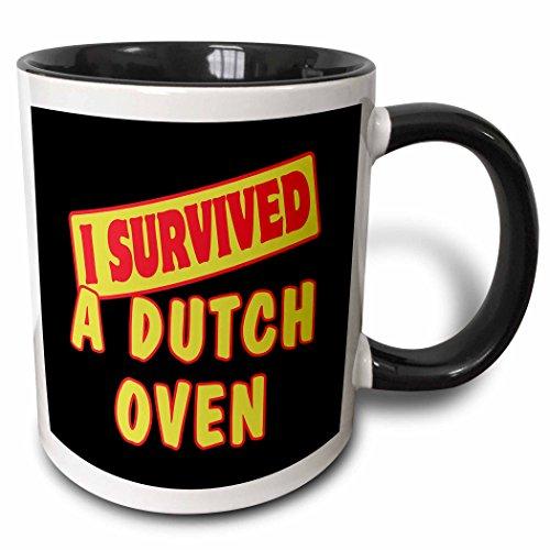 3dRose 117596_4 Dutch Oven Survival Pride and Humor Design T