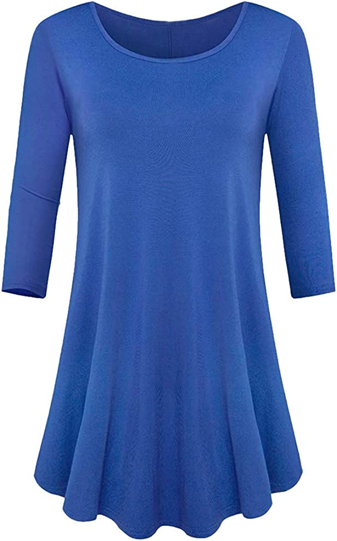 10-20 Sizes Ladies Womens New Blue Frill Sleeve Casual Blouse Outing Top