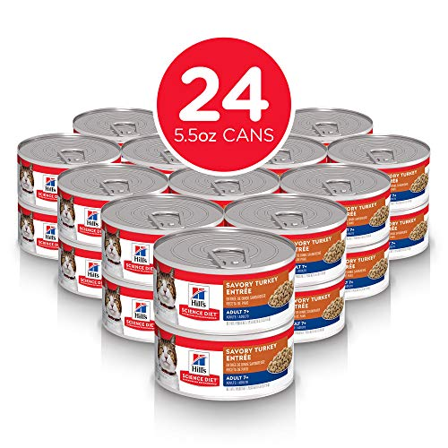 Hill's Science Diet Wet Cat Food, Adult 7+, Savory Entree, 5.5 oz, 24-pack