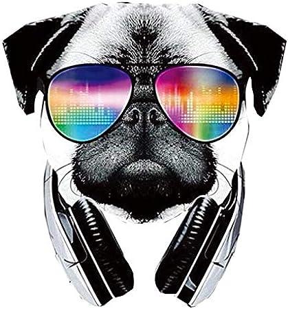 PMSMT Parches Cool Dog con Gafas de Sol Set Iron On Denim DIY Parches para niños Camiseta A-Level Parches de fácil Uso Pegatinas de Transferencia de Calor