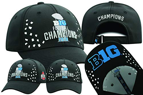 Elite Fan Shop Ohio State Buckeyes Big 10 Champs Hat 2018 Locker Room - Adjustable - Black