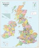 British Isles Political Laminated Wall Map