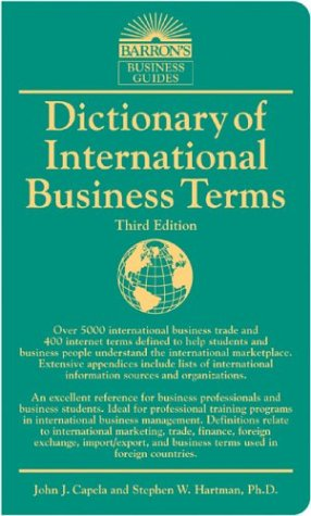 Dictionary of International Business Terms (Barron's Business Guides) by Brand: Barron's Educational Series, Inc.
