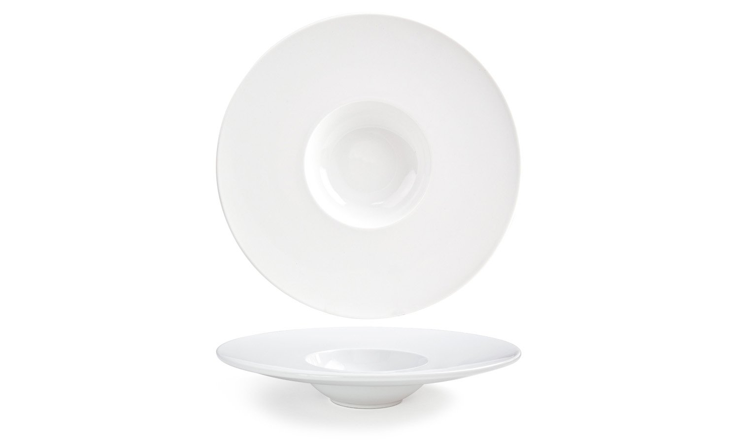 Front of the House DBO053WHP22 Monaco Bowl, 11.5'' Diameter, 2.25'' Height, 7 oz., Porcelain (Pack of 6)