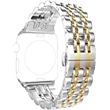 Best Discount Immsss Band Compatible For Apple Watch Series 4 40mm 44mm Series 3 2 1 38mm 42mm For Women Men Stainless Steel Band For Iwatch Cowboy Bracelet Style Replacement Strap