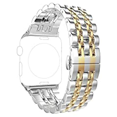 ImmSss Apple Watch Bands 38mm 42mm for Women Men,Solid Stainless Steel Bracelet Style Replacement Strap for Apple Watch Series 3 Series 2 Series 1 Features: Classic watch band design, elegant and luxury makes your apple watch personalized Exc...
