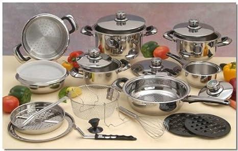 Amazon.com: Cocina de acero inoxidable quirúrgico 22pc ...