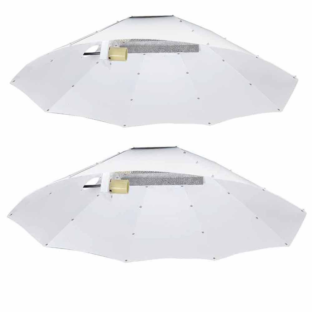Yescom 42'' Reflector Hood Umbrella Shade for HPS MH Grow Light Bulb Tent Indoor Hydroponics Greenhouse Planting(2 Pack) by Yescom