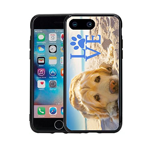 Golden Retriever with Love Paw for iPhone 7 Plus (2016) & iPhone 8 Plus (2017) (5.5) Case Cover by Atomic - Iphone Retriever Golden