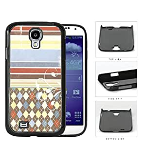 Colorful Washed Out Old Vintage Stripes and Diamonds Pattern Hard Snap on Phone Case Cover Samsung Galaxy S4 I9500