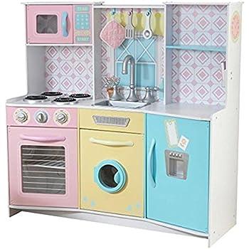 Amazon Com Kidkraft Deluxe Big Amp Bright Kitchen Toys Amp Games