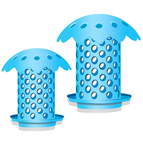 MONBAR Hair Catcher Shower Drain Protector/Strainer/Snare DIY Any Sink Drains Silicone & (2 - Any Sink
