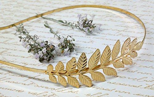 Women's Handmade Golden Leaf ,Bridal Headband Tiara, Hair Band Headpiece Hair Accessories