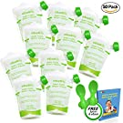 Reusable Food Pouch (10 Pack) Ideal for Babies,Toddlers and Preschoolers,FREE 2 Spoons & Organic Recipe E-Book Bundle-Easy to Fill and Clean,Leakproof,Perfect for Baby Food,Homemade and Organic Puree