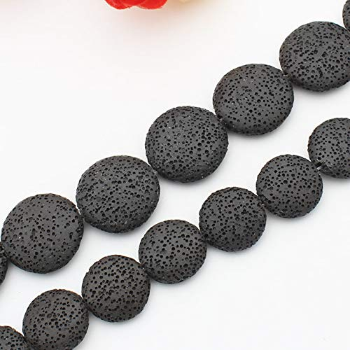 Calvas Multi-Color Volcanic Lava Stone Coin Shape 20mm,26mm,32mmLoose Beads 15