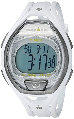 Timex Unisex TW5K96200 Ironman Sleek 50 White Full-Size Resin Strap Watch
