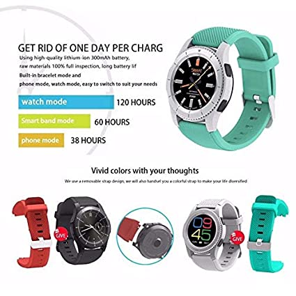 Amazon.com: FAIYIWO Bluetooth Smartwatch Sport Wristwatch ...